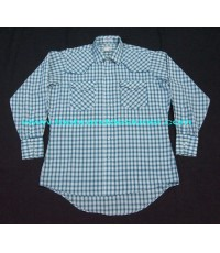 เสื้อลีวายส์กระดุมมุก Vintage 80s Levi\'s pearl snap cowboy western shirt plaid L