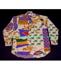เสื้อเชิ้ต Ts CLUB DIVISION Persian Polyester Used Designer Shirt แบรนด์เนมมือสอง F