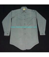 เสื้อเชิ้ตวินเทจ Vintage 50s BLUE BELL SANFORIZED Work Shirt เสื้อผ้าช่างเวิร์คเชิ้ต 14