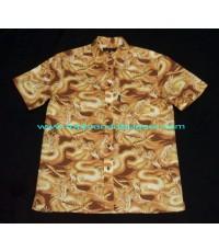 เสื้อเชิ้ตวินเทจผ้าลินิน Vintage SASSON Eagle Linen Men Shirt เสื้อเชิ้ตมือสองบุรุษลายนอินทรีย์ M