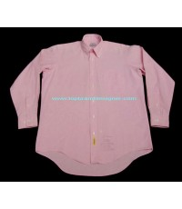 เสื้อเชิ้ตวินเทจ Vintage 80s BD BAGGIES USA Oxford pink Men Dress Shirt 15-33