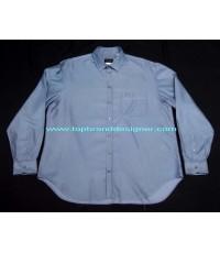 เสื้อ GIORGIO ARMANI Black Label Italy Shirt Used Designer อาร์มานี่แท้แบรนด์เนมมือสอง 17.5