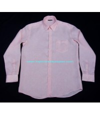 เสื้อเชิ้ตผ้าลินิน UNIQLO PREMIUM LINEN shirt used designer clothes แบรนด์เนมมือสองของแท้ XL