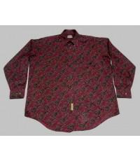 เสื้อเชิ้ตวินเทจ Vintage 80s BD BAGGIES USA Paisley Mens Casual Shirt XL
