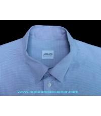 เสื้อ ARMANI COLLEZIONI Mens Used Designer Shirt อาร์มานี่แบรนด์เนมมือสองของแท้บุรุษ 40