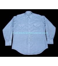 เสื้อกระดุมมุกมือสอง Vintage 70s ROEBUCKS Pearl Snap Men Western Shirt Sz. L