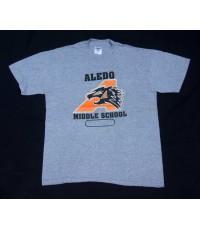 เสื้อยืดมือสองผ้าบาง 50/50 ALEDO MIDDLE SCHOOL Vintage t-shirt Sz M