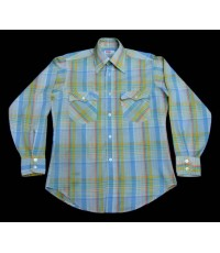 เสื้อลีวายส์ Vtg 70s LEVIS Big E USA Men Western Work Shirt Plaids M