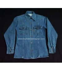 แจ๊คเก็ตยีนส์ลีวายส์ Vtg 70s LEVI\'S Orange Tab USA Denim Jacket Men Work Shirt S