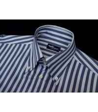 เสื้อทำงาน FENICIA Italy Made Men Dress Shirt Used Designer Striped 16-32