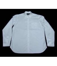เสื้อขาว Ralph Lauren RRL double RL White Men Used Designer Shirt XL