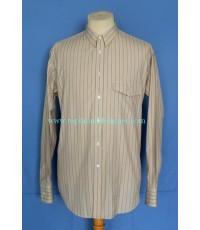 เสื้ออาร์มานี่ GIORGIO ARMANI Men Dress Shirt Used Designer Stripes 15 1/2-36