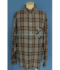 เสื้อผ้าเรยอน GOOSE GANDER Italy Rayon Men Used Designer Shirt Plaid 50