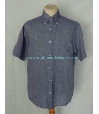 เสื้อผ้าลินิน UNIQLO Linen Men Used Designer Shirt L