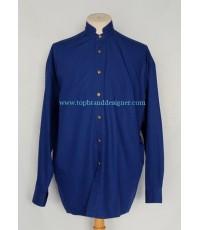 เสื้อเวอร์ซาเช่ Versace Classic V2 Italy Men Used Designer Shirt Blue M