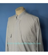 เสื้อ Istante by Versace Italy Men Used Designer Shirt Geometric Print M