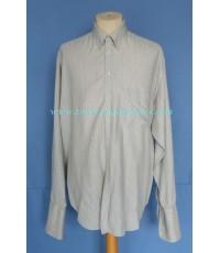 เสื้อทำงานอาร์มานี่แขนคัฟลิ้งค์ GIORGIO ARMANI Men Shirt French Cuffs Stripes 17-38
