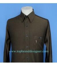 เสื้อเชิ้ต TRUSSARDI Men Used Designer Shirt Stripes 46