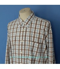 เสื้อเชิ้ต CANALI Italy Men Used Designer Shirt Plaid XXL