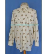 เสื้อกระดุมมุก PARDNERS Pearl Snap Men Western Shirt Floral Printed XL