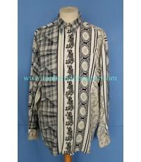 เสื้อผ้าเรยอน NOGARET Paris France Rayon Men Used Designer Shirt Paisley Printed M