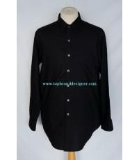 เสื้อ Yohji Yamamoto DURBAN A.A.R Men Used Designer Shirt Striped Black L