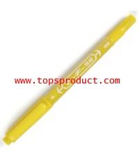ปากกามาร์คเกอร์ 2 หัว เหลือง ซีบร้า MO-120MC