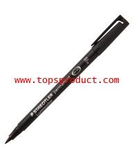 ปากกาเขียนแผ่นใสลบไม่ได้(F) 0.6มม.ดำ สเต็ดเล่อร์ 318-9