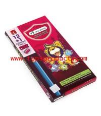 ดินสอสี แท่งยาว (กล่อง12สี) มาสเตอร์อาร์ต