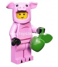 LEGO MINI FIGURE SERIES 12 : No.14 PIGGY GUY ชุดหมู ซองสีเหลือง พร้อมโค๊ท GAME Online [SOLD OUT]