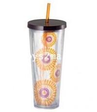 STARBUCKS : Floral Cold Cup Togo Purple x Orange 24 oz แก้วเครื่องดื่มเย็นขนาด 24oz [SOLD OUT]