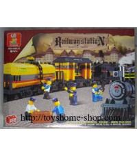 เลโก้จีน เลโก้จีนราคาถูก ชุด โบกี้รถไฟพร้อมราง