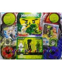 เลโก้จีน เลโก้จีนราคาถูก รุ่น เลโก้นินจาโกภาค 3 ลูกข่างคู่ (งูสีเขียว+นินจาผู้เฒ่า)
