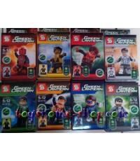 เลโก้จีน ชุด เลโก้ฟิกเกอร์ แอดเวนเจอร์ greenl antern8 ครบชุด 8 กล่อง