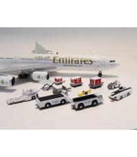 GEMINI JETS 1:400 Emirates w/tugs Set 2 Equipment G2639