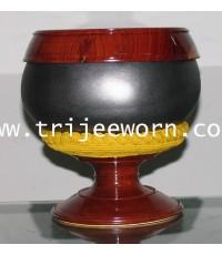 บาตรเหล็กบ่ม / บาตรบ่ม Iron Alms Bowl, Kiln-Fired