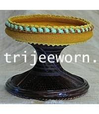 ขาบาตร แก่นขาม 3 Tamarind Heartwood Alms Bowl Stand No. 3