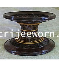 ขาบาตร แก่นขาม 4 Tamarind Heartwood Alms Bowl Stand No. 4
