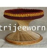 ขาบาตร ไม้ไผ่ สีธรรมชาติ Natural Color Coconut Wood Alms Bowl Stand