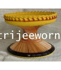 ขาบาตร ไม้แก่นคูน Drumstick Heartwood Alms Bowl Stand