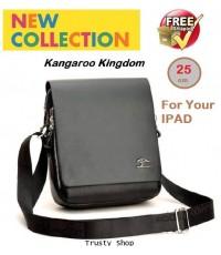 กระเป๋าสะพาย กระเป๋าผู้ชาย กระเป๋าหนัง กระเป๋าไอแพ็ต Kangaroo Kingdom L 0454 สีดำ