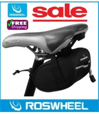กระเป๋าติดจักรยาน Roswheel แบบใต้เบาะ สีดำสุขุม Saddle Bag Code 0542