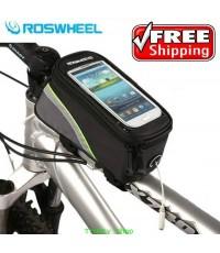 กระเป๋าจักรยาน Roswheel กระเป๋าติดจักรยาน Iphone Code 0561 คาดเขียว ส่งฟรี