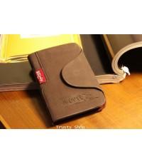 กระเป๋าใส่บัตรเครดิต กระเป๋าหนังแท้ ผู้ชาย Credit Card Wallet BOVI 0647