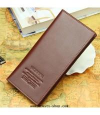 กระเป๋าสตางค์ผู้ชาย กระเป๋าใบยาว Woerfu 1424 - Brown