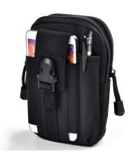 กระเป๋าเงิน กระเป๋าร้อยเข็มขัด กระเป๋าคาดเอว 1834 (สีดำ)