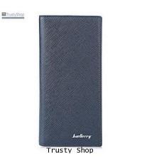กระเป๋าใส่เช็ค กระเป๋าเงิน กระเป๋าสตางค์ Long Wallet รุ่น Baellerry No. 2398 น้ำเงิน