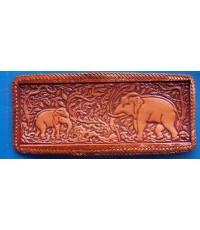 กระเป๋าสตางค์ลายช้างไทย