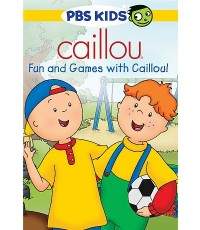 Caillou ดีวีดีการ์ตูนคายุ ตอน Fun and Games with Caillou and other stories (DVD 1 แผ่น) พากย์อังกฤษ