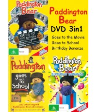 Paddington Bear 3in1: Goes to the Movie+Goes to School+Birthday Bonanza (พากย์อังกฤษ) 1DVD